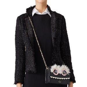 Kate Spade   Black Shimmer Tweed Jacket Size 12